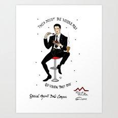 Special Agent Dale Cooper ~ RR Diner Art Print