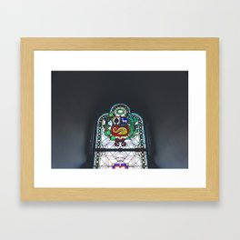 Stained Glass, Monastery, Arequipa, Peru Framed Art Print
