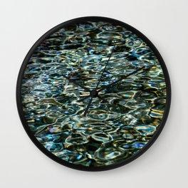 Mercurial Prismatic Waves Wall Clock