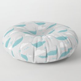 Narwhal grey Floor Pillow
