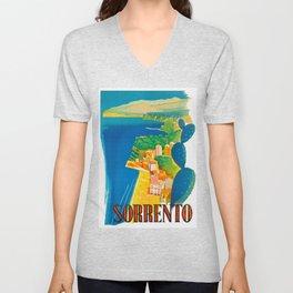 Sorrento Italy ~ Vintage Travel Poster Unisex V-Neck