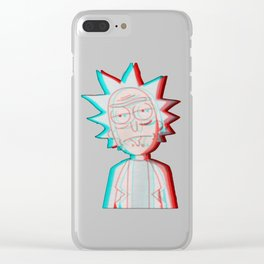 3D Rick Clear iPhone Case