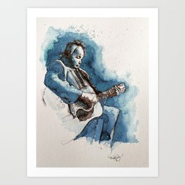 The songwriter Art Print