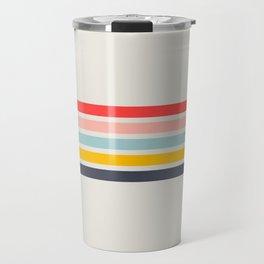 Naomori - Classic Minimal Retro Stripes Travel Mug
