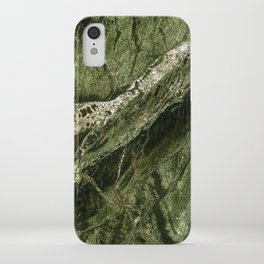 Marble Rain Forest Green iPhone Case