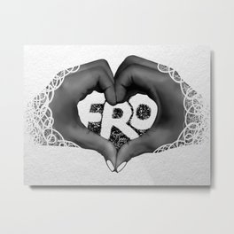 Fro Love Metal Print