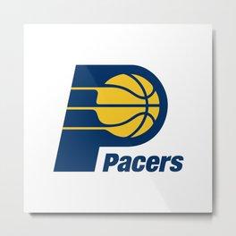 Indiana Pacer Logo Metal Print