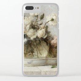 Roses by John Ferguson Weir Clear iPhone Case