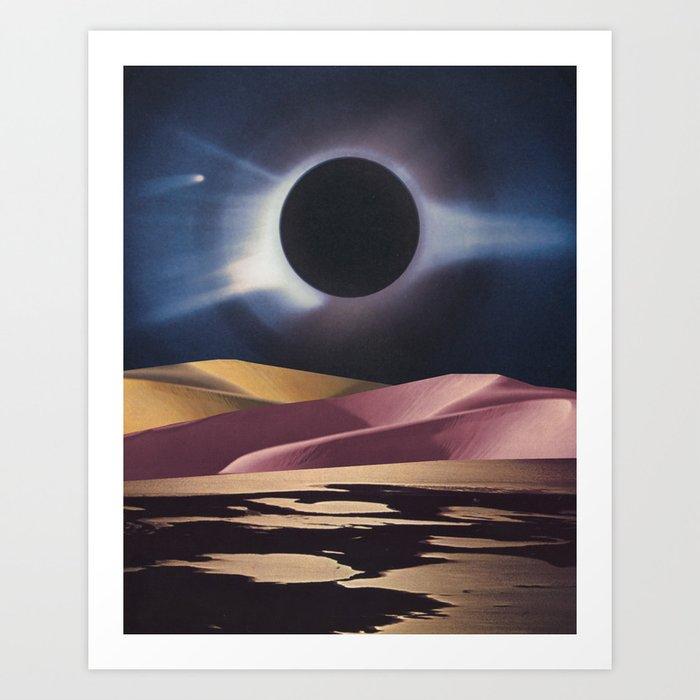 River Comet Art Print