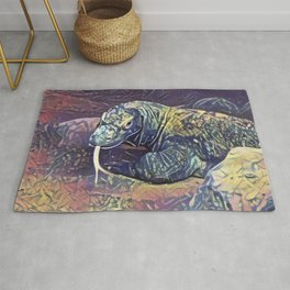 Komodo Dragon Rug