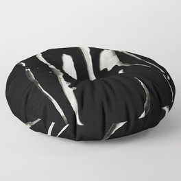 White on Black Nude No.2 Floor Pillow