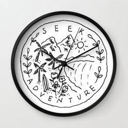 Seek Adventure Wall Clock