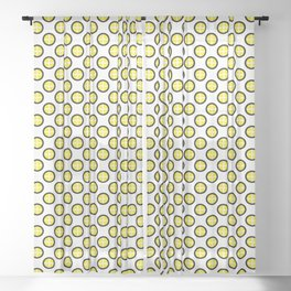 colorful, cute and Seamless yellow and black polka dot pattern with fill option (cross in dot)  Sheer Curtain