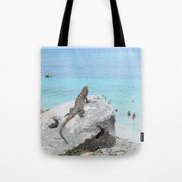 The Peeping Lizard Tote Bag