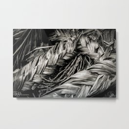Plaited Palms Metal Print