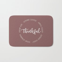 Thankful for Jesus and Autumn Bath Mat