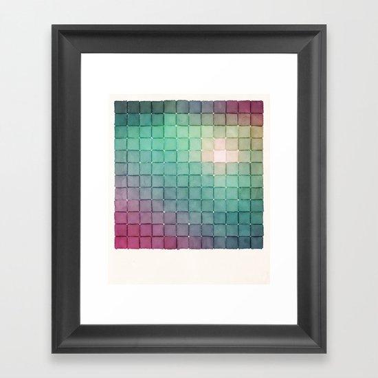 Polaroid Pixels VIII (Glow) Framed Art Print