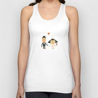 wedding Tank Tops featuring Wedding by Miguel Ordonez