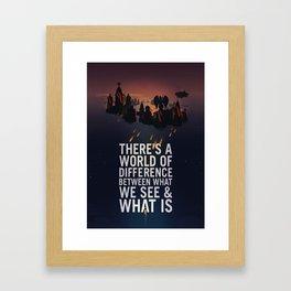 Bioshock Infinite Columbia Quote Framed Art Print
