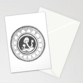 Shroom mandala Stationery Cards