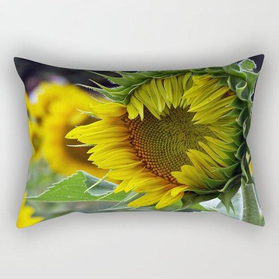 Sunflower Unfolds Rectangular Pillow