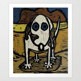 """""""Skippy visits Canyon lands Art Print"""