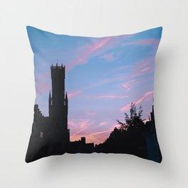 Belgium. Brugge. Sunset. Throw Pillow