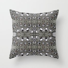 girly chic glitter sparkle rhinestone silver crystal Throw Pillow