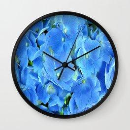 Elegant Blue Hydrangea Wall Clock