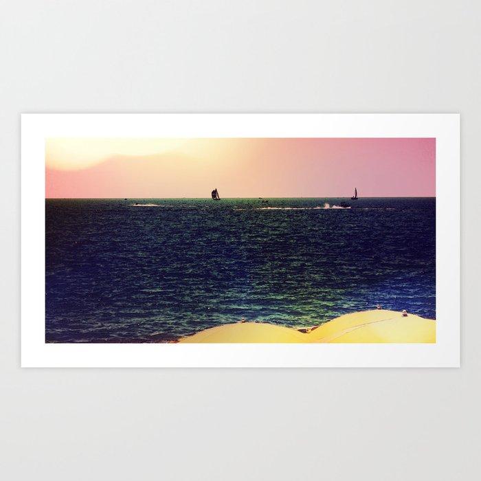 On the Mediterranean #4 Art Print
