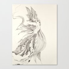 Fin and Feather Gown Canvas Print