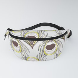 Peacock green feather Fanny Pack