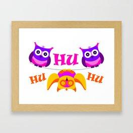 Triolium - owl party Framed Art Print