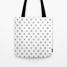 Playstation Controller Pattern (Black on White) Tote Bag