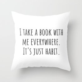 Take a Book Throw Pillow