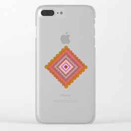 Spiral traingle Clear iPhone Case