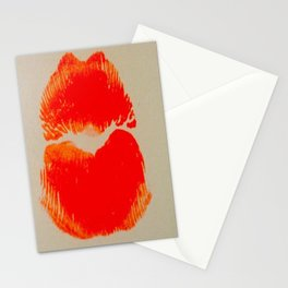 Pure Coral Pout Stationery Cards