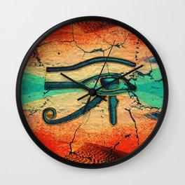 Egyptian Eye of Horus - Ra Wall Clock