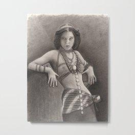 Edwardian / Victorian Lady Metal Print
