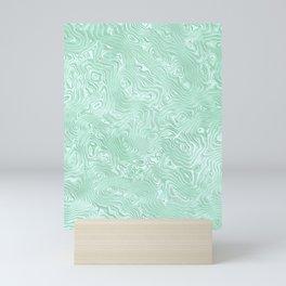 Mint Green Silk Moire Pattern Mini Art Print