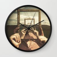 frame Wall Clocks featuring Empty Frame by Seamless