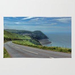 Lynmouth Bay, Devon, England Rug