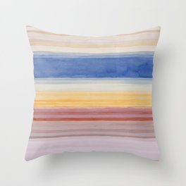 Colorbands Yellowstone Light Pink Throw Pillow