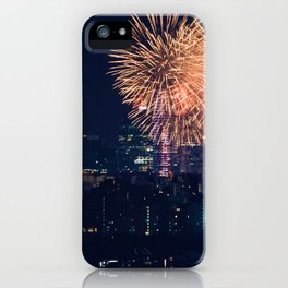 Fireworks in the City (Color) iPhone Case