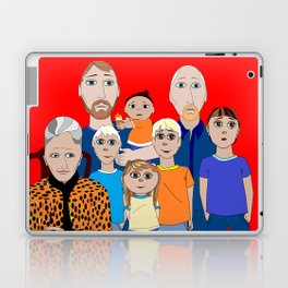 A Family of Boys with Father, Grandpa and Meemaw Laptop & iPad Skin