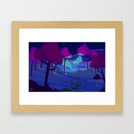 night of colour Framed Art Print