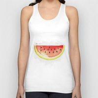 watermelon Tank Tops featuring watermelon  by Soso Creation