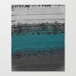 Teal and Gray Abstract Canvas Print