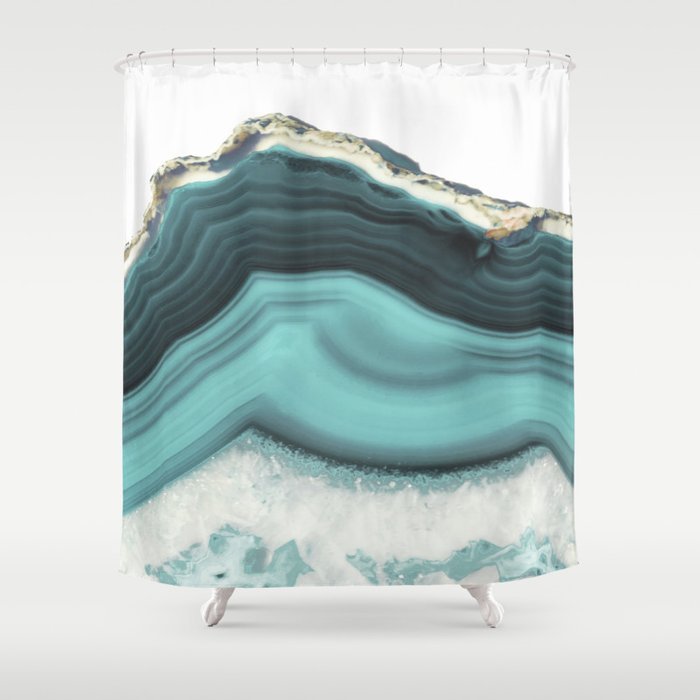 Sea Agate Shower Curtain By Cafelab