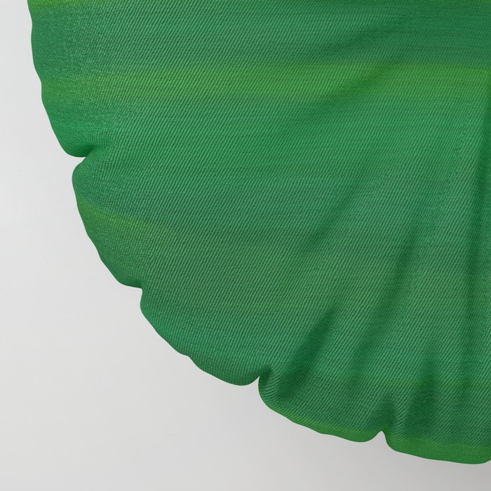 Emerald Green Stripes Abstract Floor Pillow